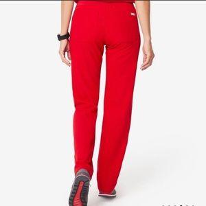 FIGS Livingston Small Reg red scrub pants NWT